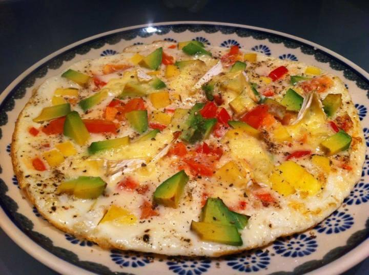 Eggjahvítu omeletta með Avacado